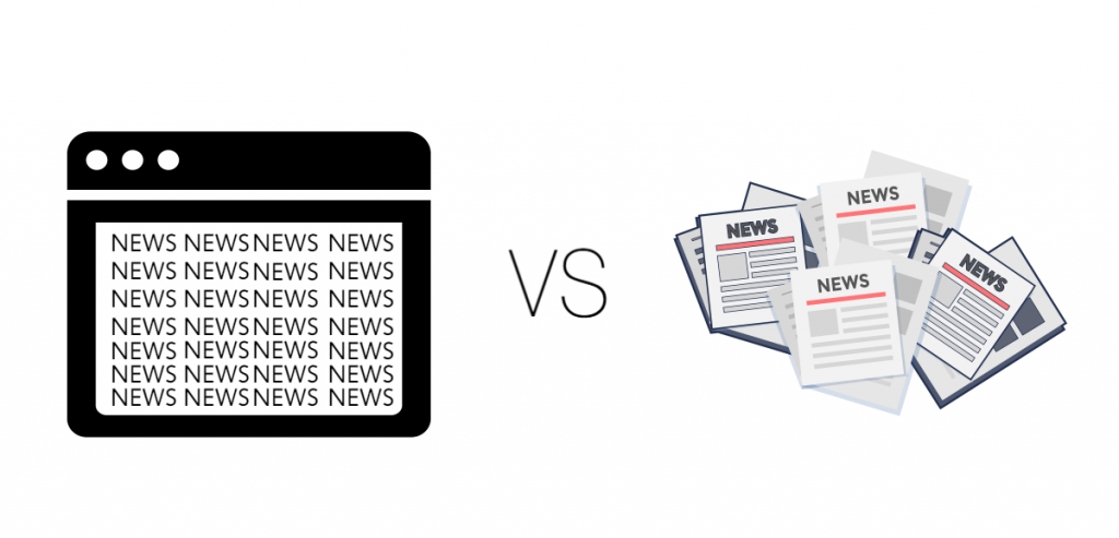 Internet vs newspapers
