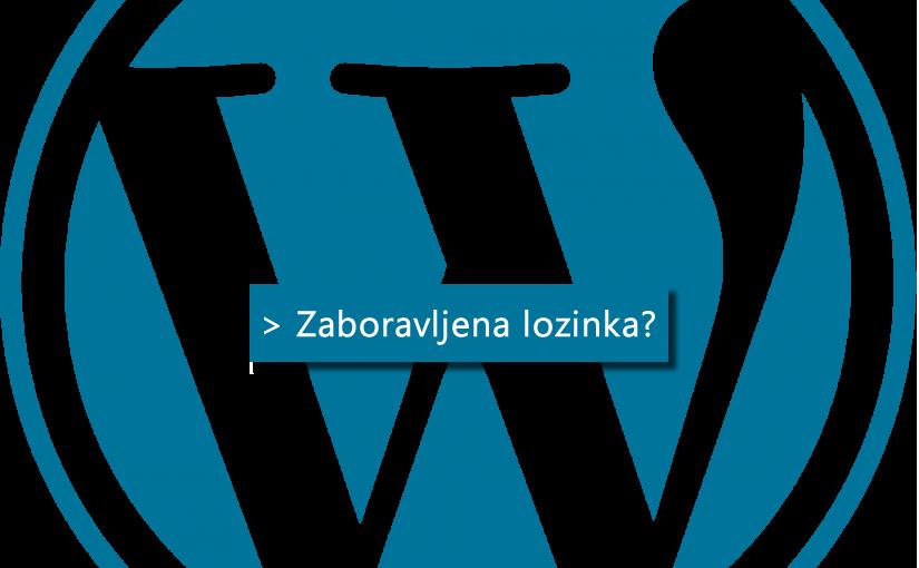 Zaboravljena WordPress lozinka?