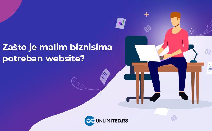 Zašto je malim biznisima potreban web sajt?