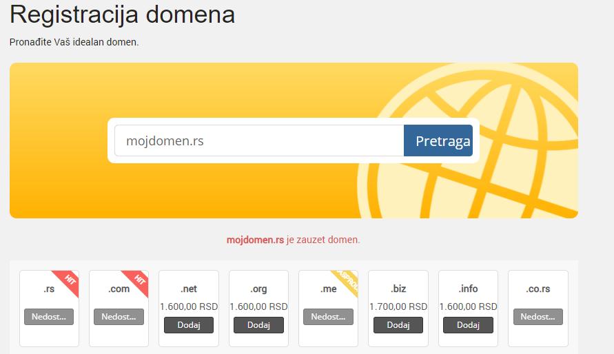 zakupite domen